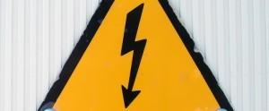 Stroomstoring waarschuwingsbord